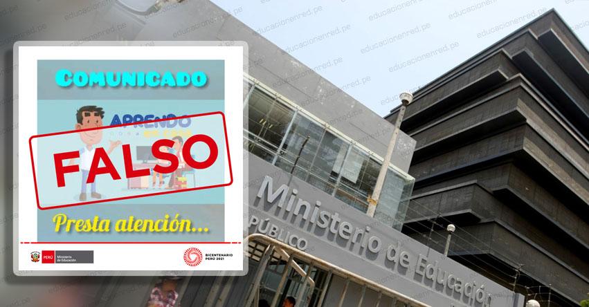 MINEDU alerta de información falsa sobre supuesta pérdida del año escolar