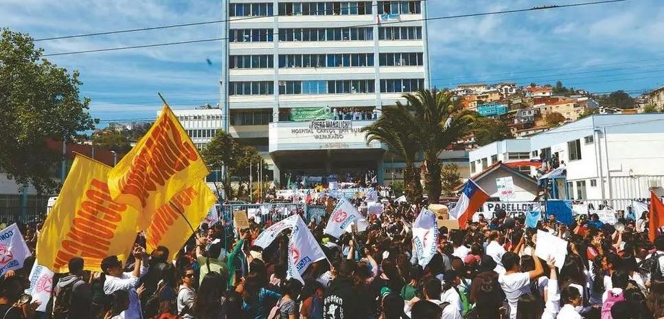[VALPARAÍSO] Multitudinarias marchas marcaron nueva jornada de descontento social