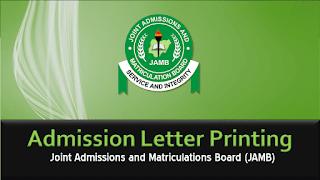 JAMB Original Admission Letter Printing Guidelines 2020/2021