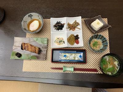 鷹の湯温泉の朝食