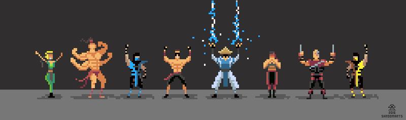 Mortal Kombat Pixelart Characters