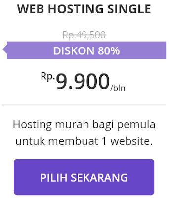 Harga web hosting Hostinger