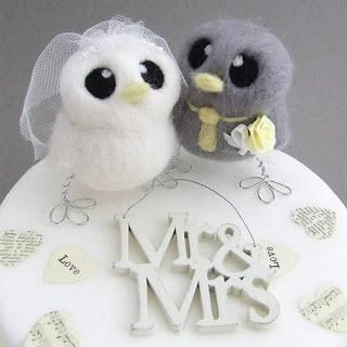 Mr and Mrs Birds Wedding Cake Topper