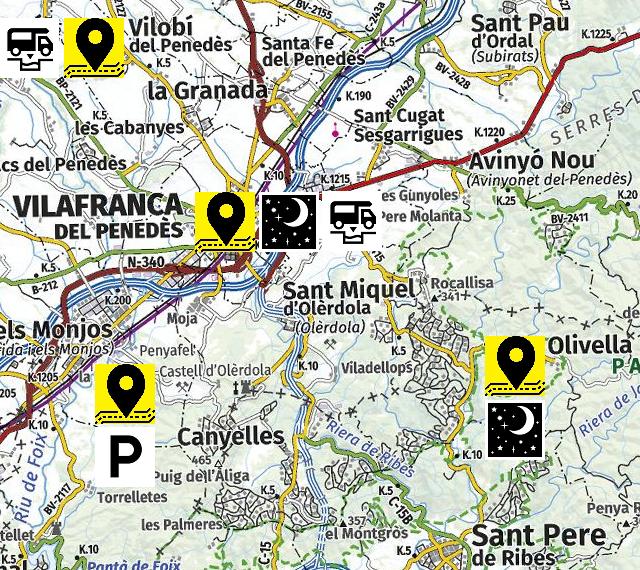 Mapa del llocs visitats