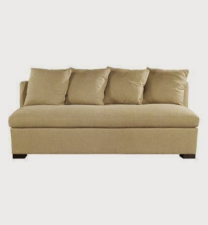 Brooks Sectional Armless Sofa