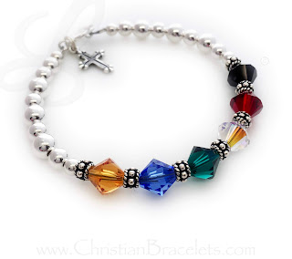 Salvation Bracelet with a Toggle Clasp and Fancy Cross Charm