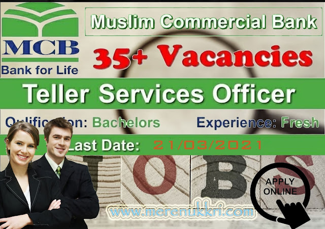 MCB Bank Jobs 2021  MCB All Pakistan New Jobs  Latest Bank Jobs   Apply Online