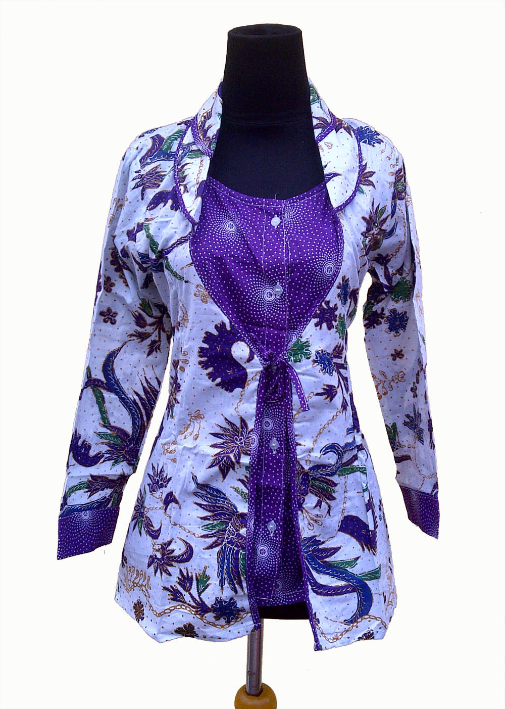 10 Model Baju Batik Atasan Lengan Panjang Wanita Modern 2017