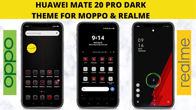 Huawei Mate 20 Pro Dark Theme cho Opp & Realme || Chủ đề Huawei || Chủ đề Oppo || Chủ đề Realme ||
