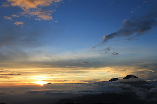 The Golden Sunrise - Mount Prau