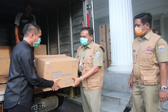 BPBD DKI Jakarta Terima Bantuan 42 Ribu Masker dari PKS