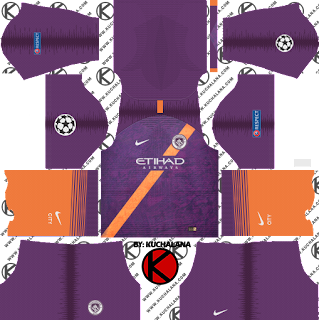 Manchester City 2018/19 UCL Kit - Dream League Soccer Kits