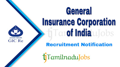 GIC recruitment notification 2019, govt jobs in India, central govt jobs, govt jobs for engineers, govt jobs for ca, govt jobs for llb