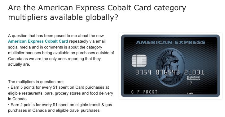 Rewards Canada: May 9 Update: Reminder that American Express