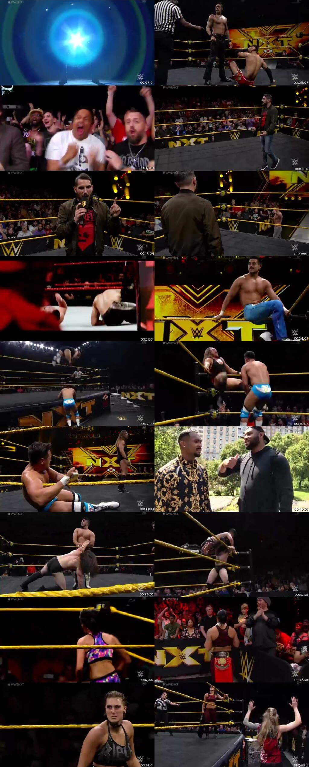 Screen Shot Of WWE NXT 11th September 2019 HDTV 480P 300MB