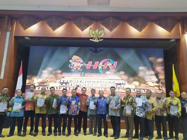 HPN 2021, 9 Wartawan Senior Dianugerahi PCNO Dari PWI Pusat dan Gubernur Kalsel Raih Pena Mas