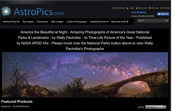 Combining the beauty of the national parks and the night sky (Source: Wally Pacholka, www.astropics.com)