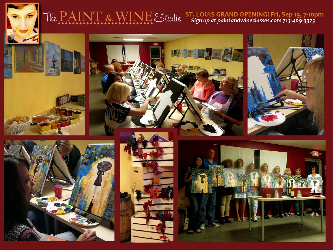 How to start a sip paint business wine painting the for Wine and paint st louis
