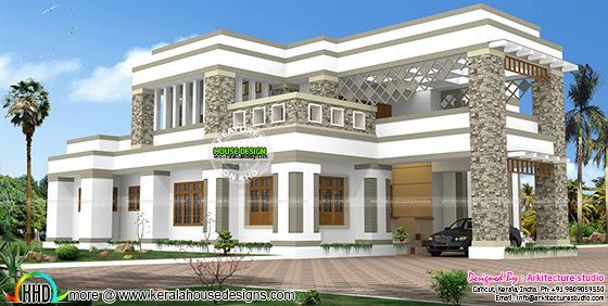 Highly decorative modern home plan