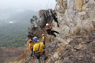 Oficina de escalada no Pico do Jaraguá realizada em edições anteriores do evento da Femesp. Foto: acervo Femesp