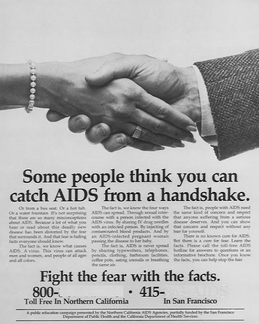 Campaña SIDA VIH 1987 Fight the fear with the facts