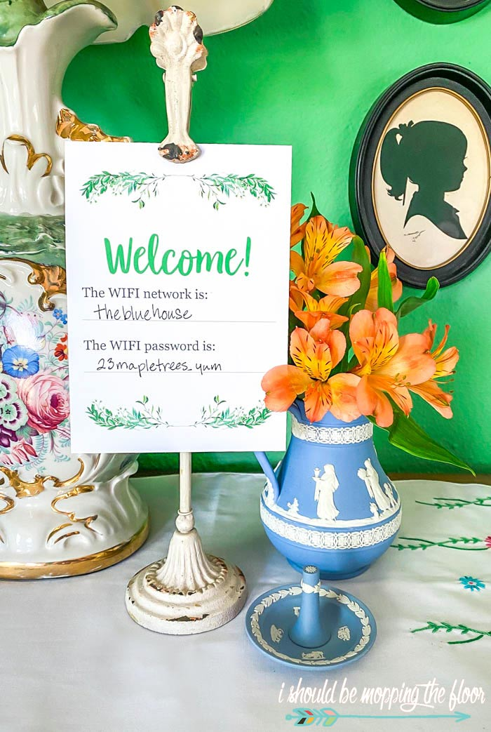 Printable Wifi Sign for Guest Room