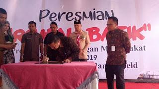 Wali Kota Jambi Dan Pertamina EP Resmikan Rumah Batik di Kawasan Danau Sipin