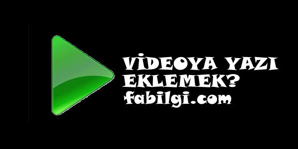 Videoya Yazı Ekleme Uygulaması Android Basit Yöntem 2020
