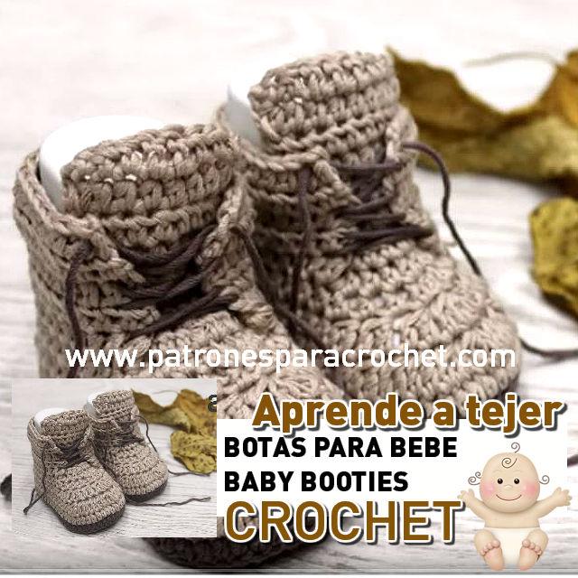 tutorial de botas patucos bebe