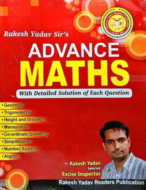 ADVANCED MATHS BY RAKESH YADAV : PDF | NOTES ADDA