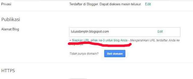 cara mudah setting domainke blog