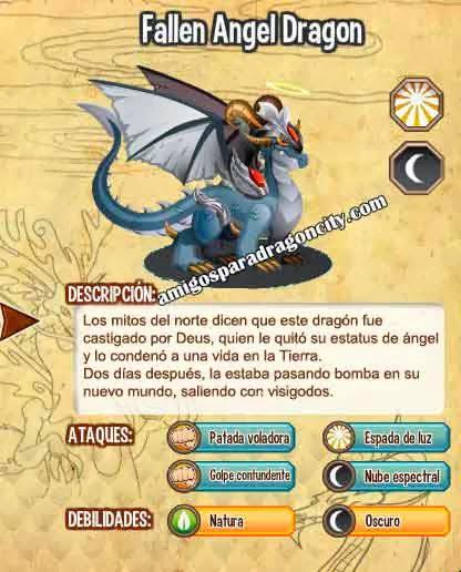 imagen de las caracteristicas dell dragon angel caido