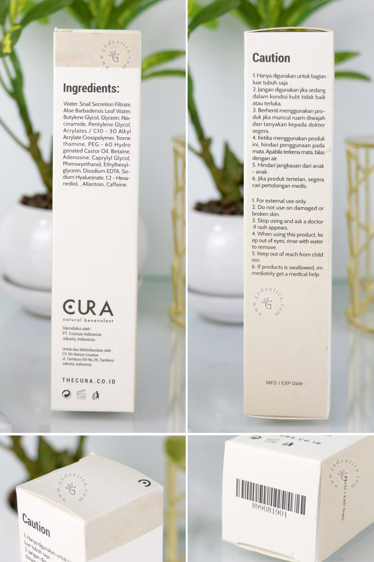 Review Cura Snail Purity Essence
