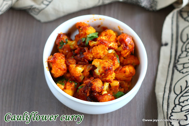 Cauliflower-curry recipe