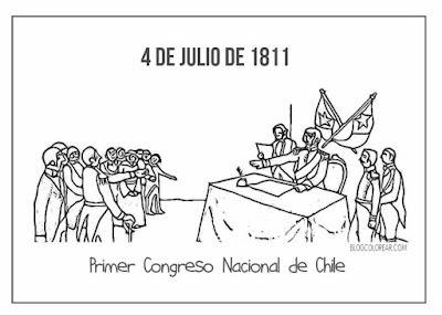 pintar Primer Congreso Nacional de Chile
