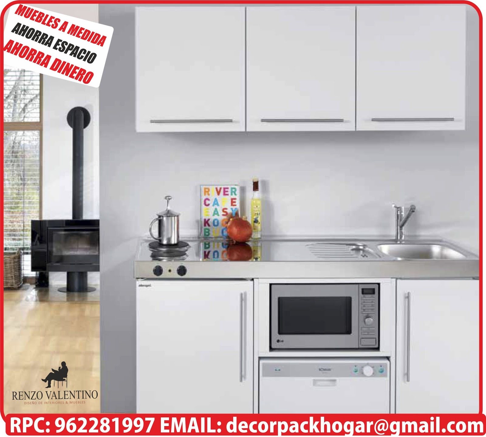 Dise os fabricacion de closet cocina y muebles de oficina for Muebles de cocina para espacios pequenos