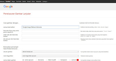Tampilan Google Image dalam Bahasa Indonesia