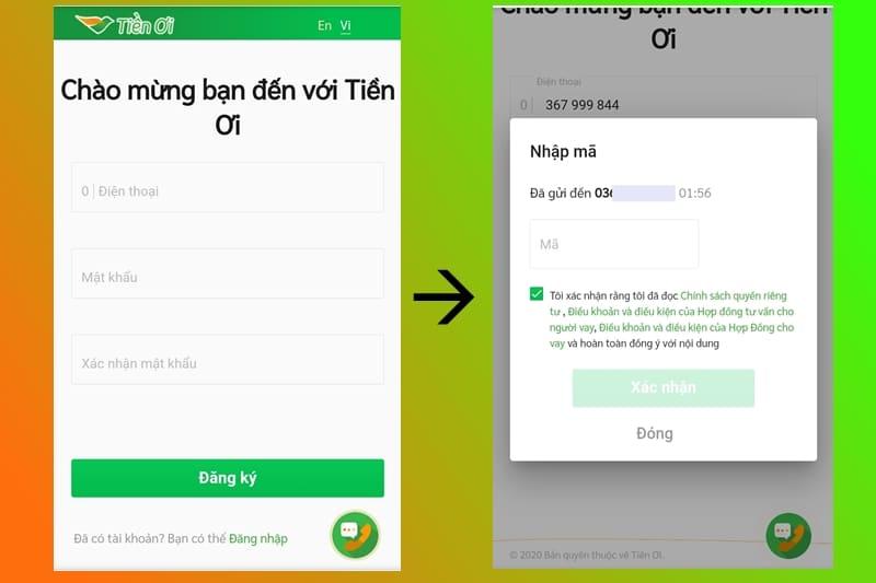 Tiền Ơi – Hướng dẫn vay 10 triệu tại Tienoi.com.vn chỉ cần CMND