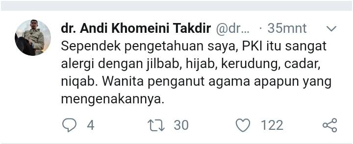 No Hijab Day Bikin Geram, Dokter Seribu Pulau: PKI Sangat Alergi Jilbab