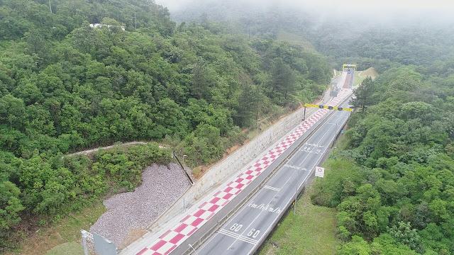 Temos um exemplo recente de área de escape construída no Brasil