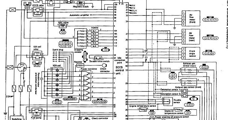 Nissan Skyline GTR ECCS Wiring Diagram  Engine Control