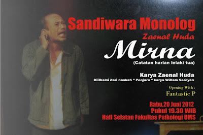 Sandiwara Monolog 'MIRNA'