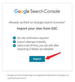 How to import Verified Website from Google Search Central into Bing Webmaster Tools