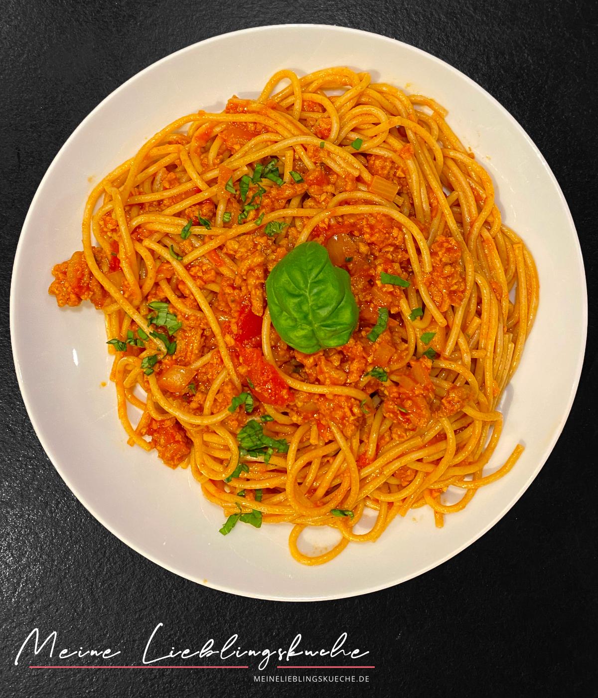 Vegane Bolognese mit veganem Hackfleisch aus Erbsen von ProLaTerre