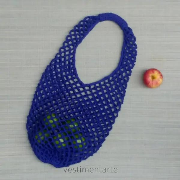 Ecobag Francesa Crochê Bolsa Reutilizável