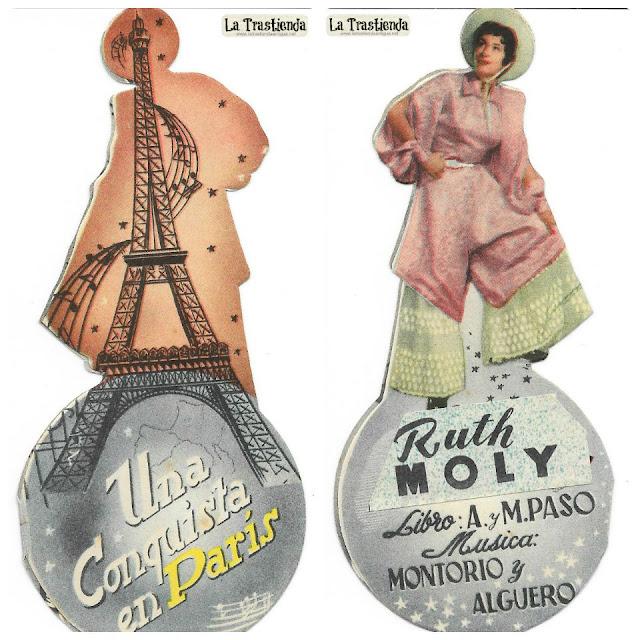 Una Conquista en París - Programa de Teatro - Ruth Moly - Manuel Gómez-Bur