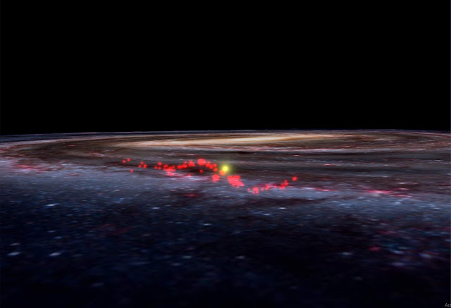 New map of Milky Way reveals giant wave of stellar nurseries