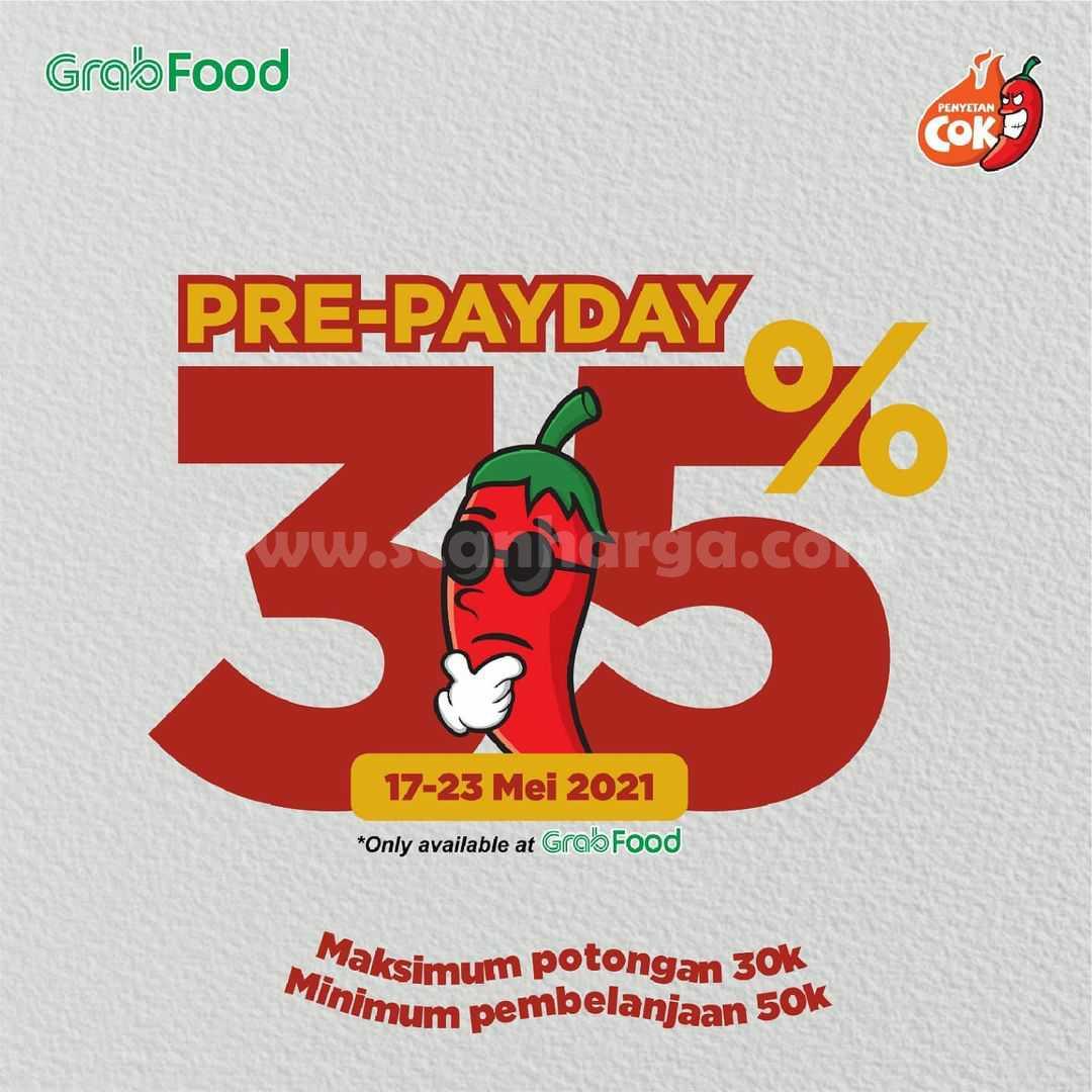 Promo Penyetan Cok Pre-Payday Grabfood Diskon hingga 35%