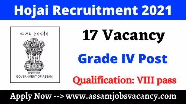 Hojai Recruitment 2021
