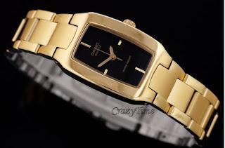 Jam Tangan Wanita Casio Gold Cantik